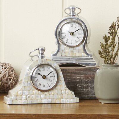 Mother of Pearl Table Clocks