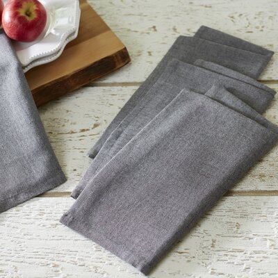 Fryeberg Chambray Napkins Color: Black