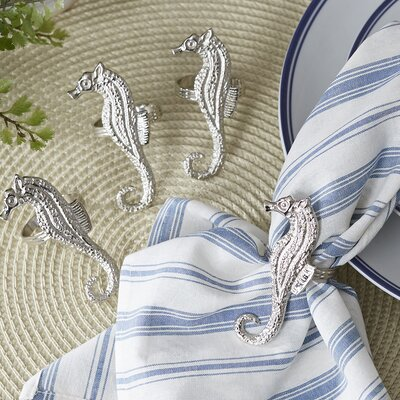Polished Seahorse Napkin Rings
