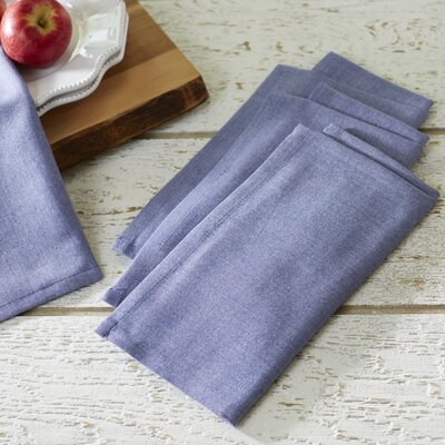 Fryeberg Chambray Napkins Color: Navy