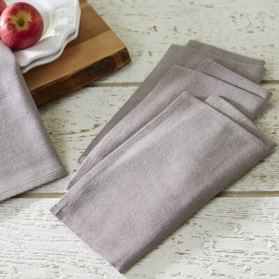 Fryeberg Chambray Napkins Color: Old Wood