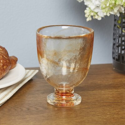 Sedley Glass Liqueur Glasses Color: Tangerine