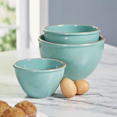 Wiggam 3-Piece Mixing Bowl Set Color: Teal
