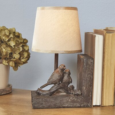 Huddling Birds Bookend Table Lamps