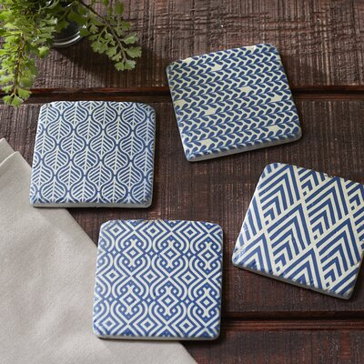 Intricate Cobalt Coasters