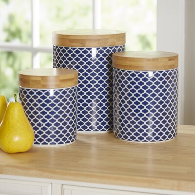 Wilshire 3 Piece Kitchen Canister Set