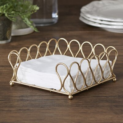 Wissett Cocktail Napkin Holder Color: Gold