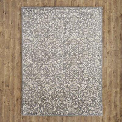 Oliver Slate Geometric Wool Hand-Tufted Area Rug