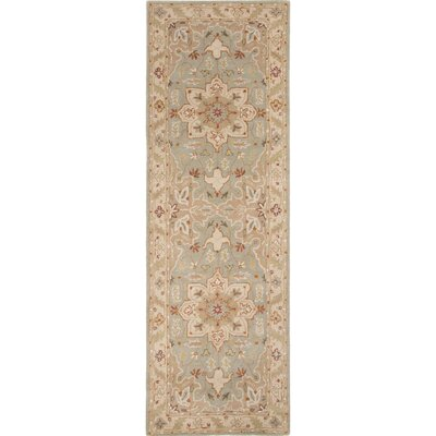 Alisa Blue and Ivory Rug Size: Runner 26 x 8
