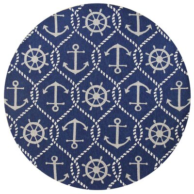 Harbor Shipyard Indoor/Outdoor Area Rug Rug Size: Round 76