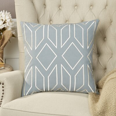 Tierney Linen Pillow Cover Size: 18 H x 18 W x 0.25 D, Color: TealCream