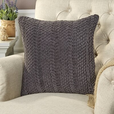 Mandrell Velvet Pillow Size: 22 H x 22 W x 1 D, Color: Charcoal
