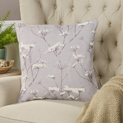 Abeline Linen Pillow Cover Size: 22 H x 22 W x 1 D, Color: Purple
