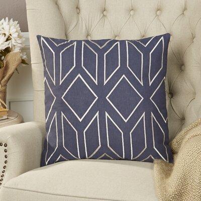 Tierney Linen Pillow Cover Size: 20 H x 20 W x 1 D, Color: BlueNeutral