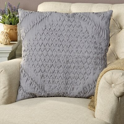 Winona Pillow Cover Size: 18 H x 18 W x 1 D, Color: Gray