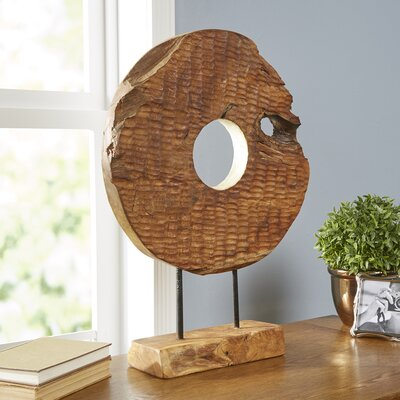Birch Lane Carved Disc Decor