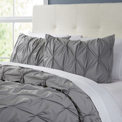 Cogswell Comforter Set Size: King, Color: Gray