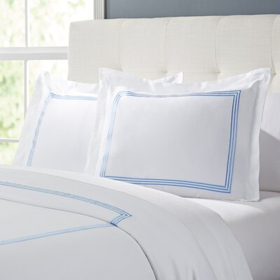 Tappen Duvet Set Color: White / Blue, Size: Full / Queen