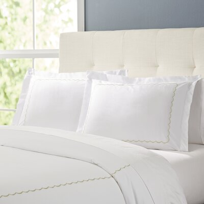 Primrose Duvet Set Color: White / Sage, Size: King