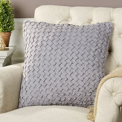 Margot Pillow Cover Size: 18 H x 18 W x 0.25 D, Color: Gray