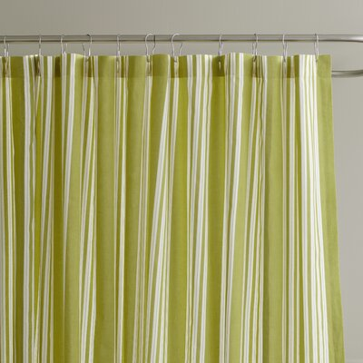 Daria Striped Shower Curtain Color: Leaf