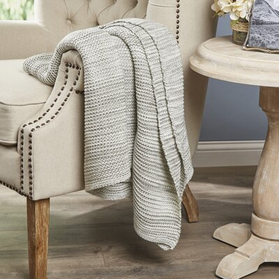 Kady Knitted Throw Color: Brown / Blue