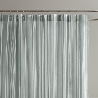Daria Striped Shower Curtain Color: Pool