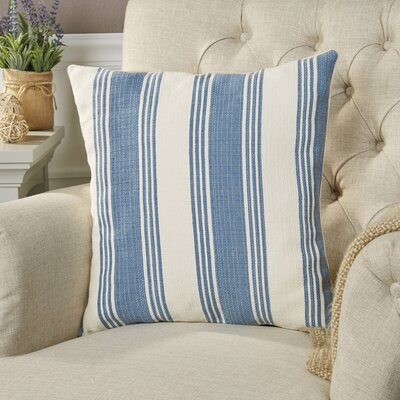 Roseanne Pillow Cover Size: 18 H x 18 W x 0.25 D, Color: DenimCream