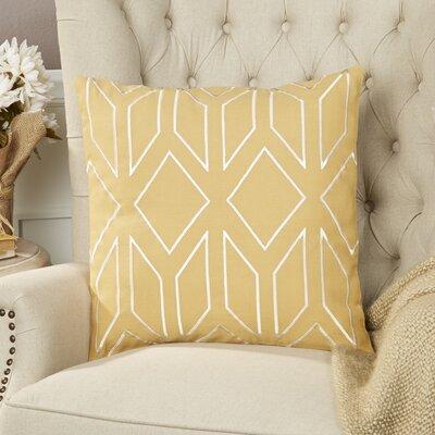 Tierney Linen Pillow Cover Size: 18 H x 18 W x 0.25 D, Color: YellowNeutral