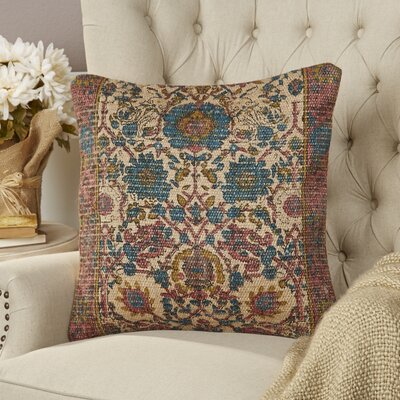 Ayn Pillow Cover Size: 20 H x 20 W x 0.25 D, Color: Blue