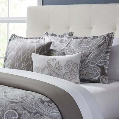 Roberta 5-Piece Duvet Set Color: Grey, Size: Full/Queen