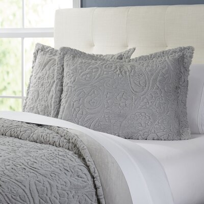 Trimbelle Comforter Set Size: King, Color: Gray