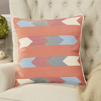 Esperanza Pillow Color: Rust, Size: 22 H x 22 W x 4 D, Filler: Down
