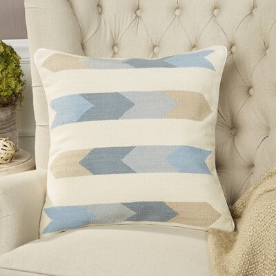 Esperanza Pillow Size: 22 H x 22 W x 4 D, Color: Beige, Filler: Down