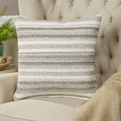 Gretchen Pillow Size: 18 H x 18 W x 4 D, Color: Ivory, Filler: Polyester