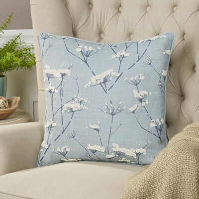 Abeline Linen Pillow Cover Size: 18 H x 18 W x 1 D, Color: Blue