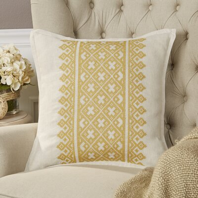 Killigrew Pillow Cover Size: 22 H x 22 W x 1 D, Color: Yellow