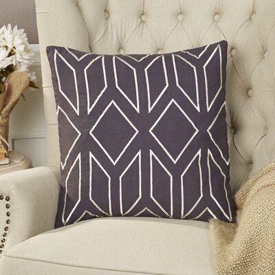 Tierney Linen Pillow Cover Size: 22 H x 22 W x 1 D, Color: NavyIvory