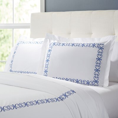 Balsam Duvet Set Color: White / Blue, Size: King