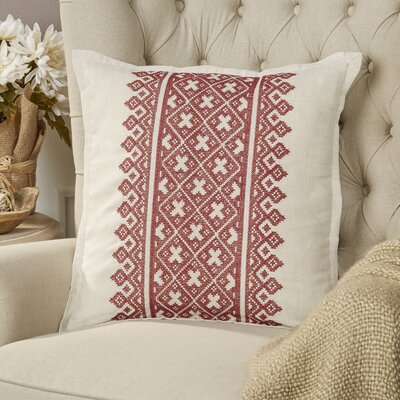 Killigrew Pillow Cover Size: 18 H x 18 W x 1 D, Color: Red