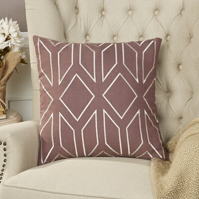 Tierney Linen Pillow Cover Size: 20 H x 20 W x 1 D, Color: PurpleNeutral