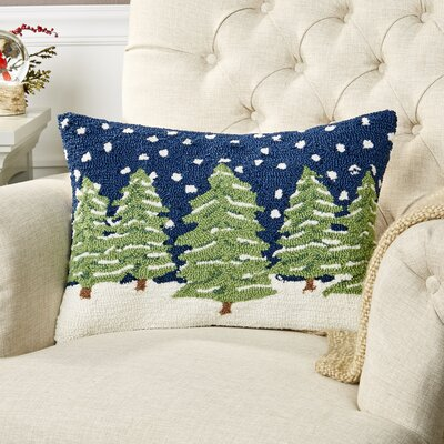Wintry Evergreens Pillow Cover