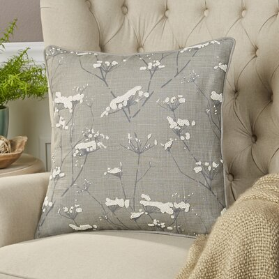 Abeline Linen Pillow Cover Size: 18 H x 18 W x 1 D, Color: Gray