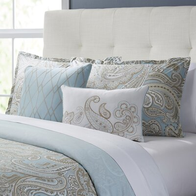 Roberta 5-Piece Duvet Set Color: Blue, Size: King/California King