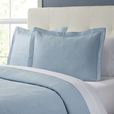 Sabine Quilt Set Size: Full / Queen, Color: Breeze Blue