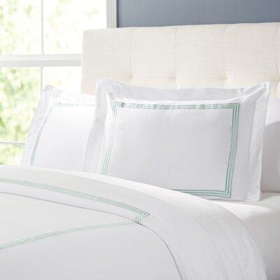 Tappen Duvet Set Color: White / Seafoam, Size: Full / Queen