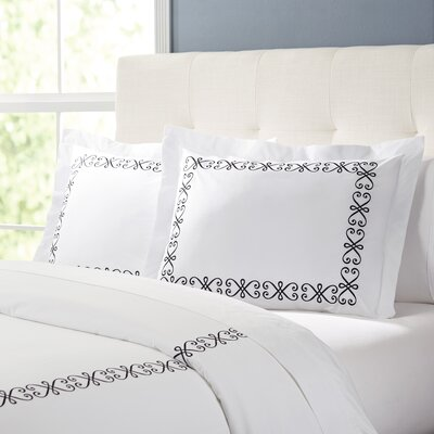 Balsam Duvet Set Color: White / Black, Size: King