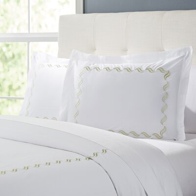 Wendell Duvet Set Color: White/Taupe, Size: King