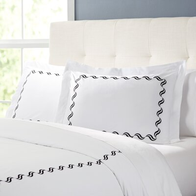 Wendell Duvet Set Color: White/Black, Size: King