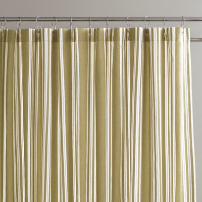 Daria Striped Shower Curtain Color: Putty